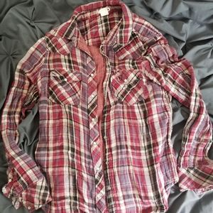 Levi's Red Flannel Top